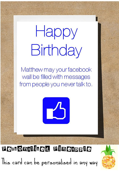 FACEBOOK WALL MESSAGES FROM FRIENDS BIRTHDAY CARD