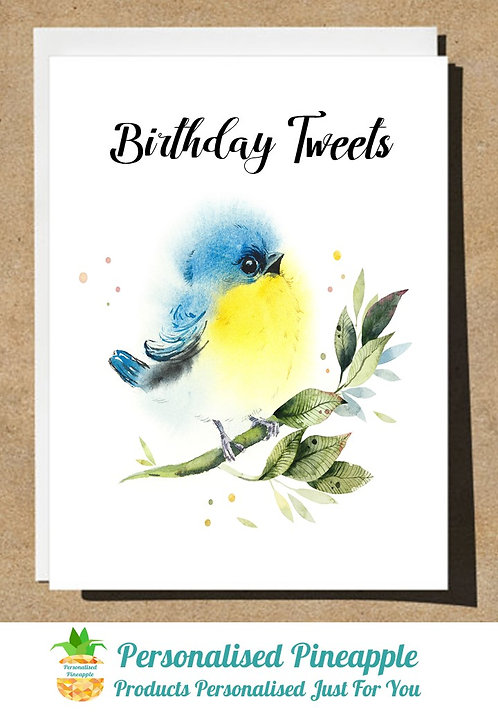 BIRTHDAY CARD BIRD BIRTHDAY TWEETS