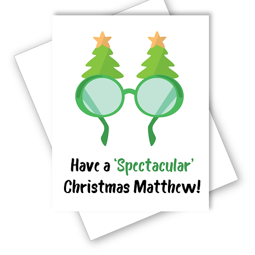Christmas Card Have a Spectacular Christmas Glasses