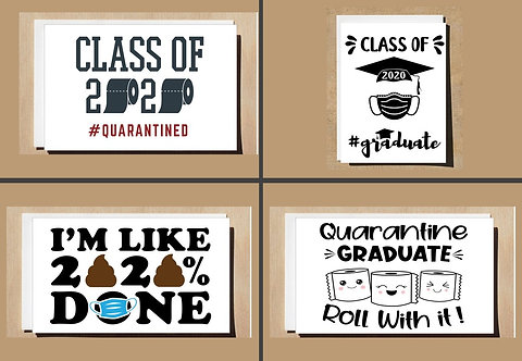 Graduation Card Congratulations 2020 QUARANTINE Many Designs Can Be Personalised