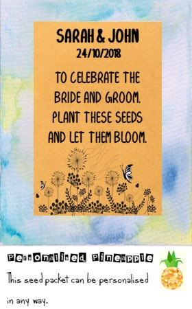 Wedding Wildflower Flower Seed Packet Favour Brown