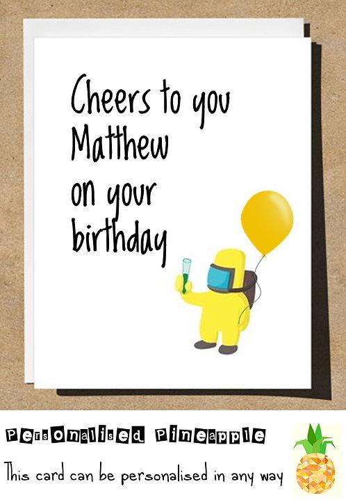 HAZMAT CHEERS BIRTHDAY CARD LOCKDOWN