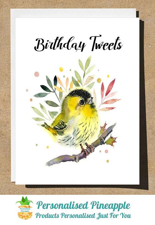 BIRTHDAY CARD BIRD BIRTHDAY TWEETS