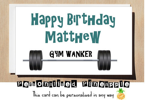 GYM WANKER BIRTHDAY CARD