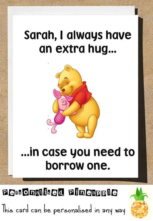 BORROW A HUG BIRTHDAY CARD