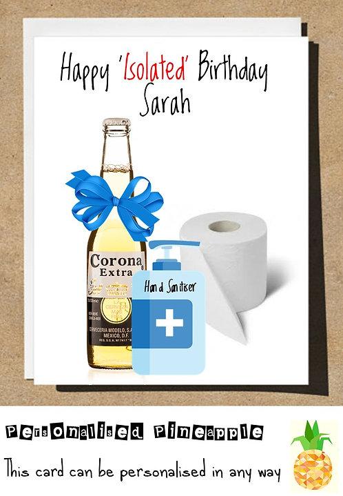 ISOLATED BIRTHDAY LOCKDOWN  CARD