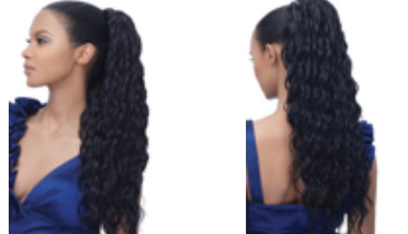 HAIRporrn Clip on Ponytail in Curly Curves