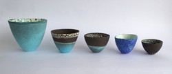 Tall bowls (Sizes 1 - 5) 2012.