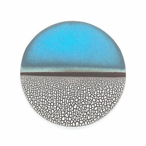 Sea Blue Decorative Clay Plate