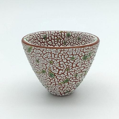 Green White Texture Glaze Bowl