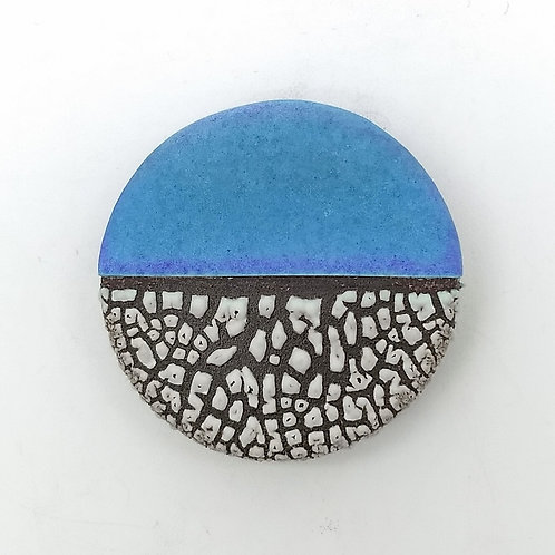 Purple Blue Ceramic Brooch