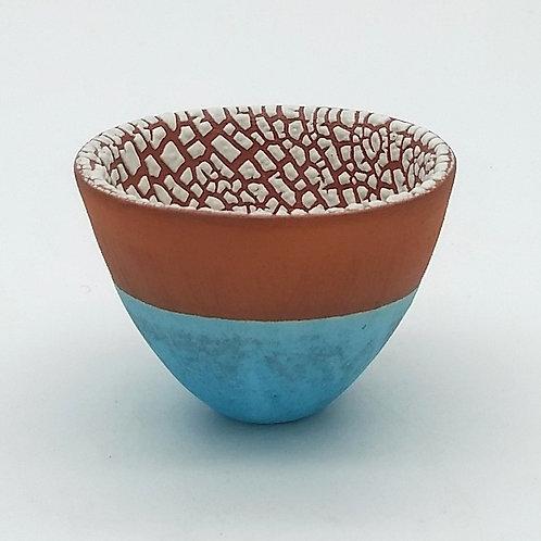 Aqua Turquoise Terracotta Bowl