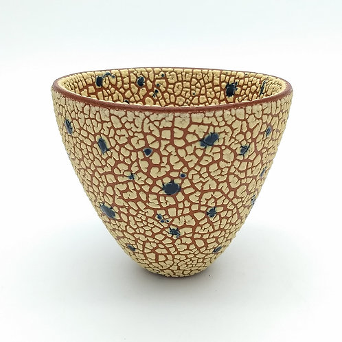 Yellow and Blue Splashed Bowl