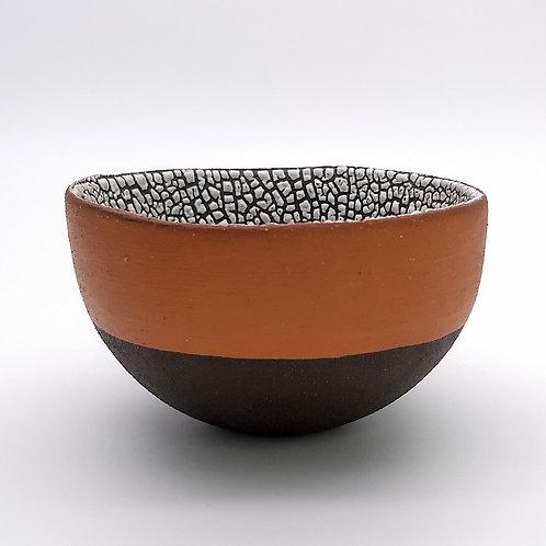 Black Clay Terracotta Slip Bowl Side View