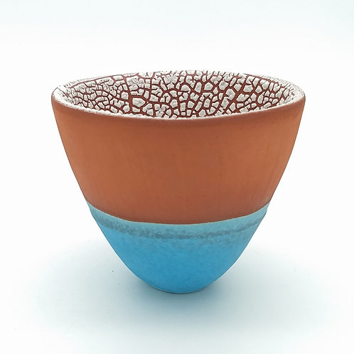 Terracotta and Blue Bowl