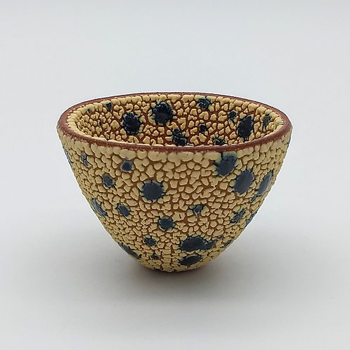 Small Yellow Inky Blue Bowl Side View 1
