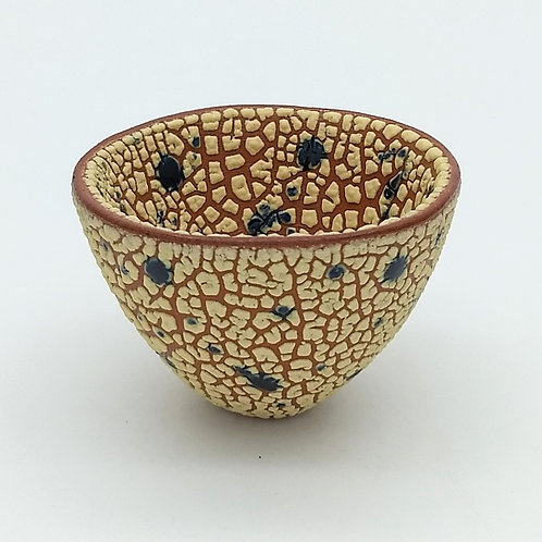 Tactile Yellow and Blue Splashed Bowl