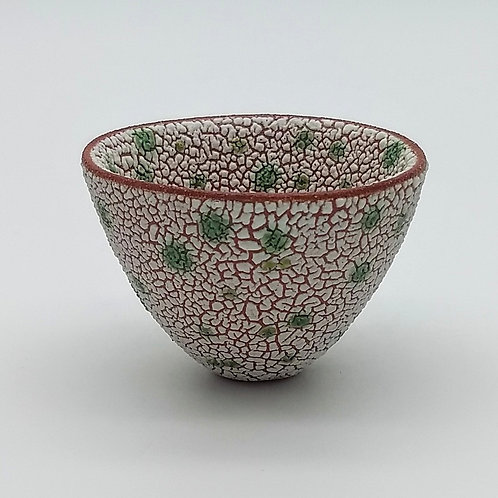 White Green Terracotta Bowl Side View 1