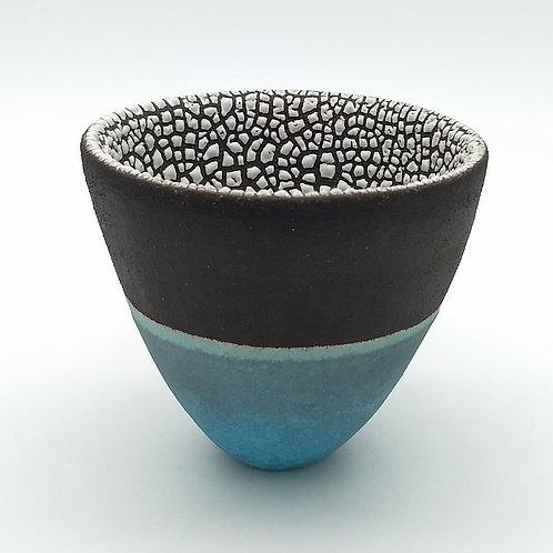 Black, Blue and White Decorative Bowl