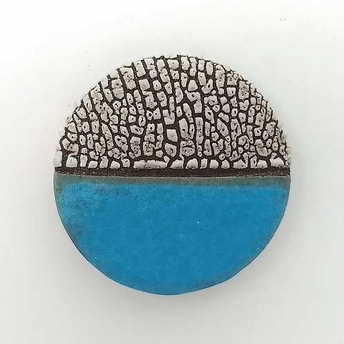 Turquoise Blue Ceramic Brooch
