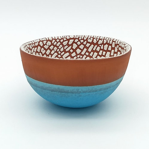 Terracotta and Turquoise Bowl