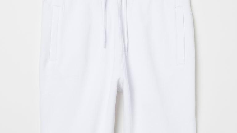 MENS WHITE SWEAT SHORTS