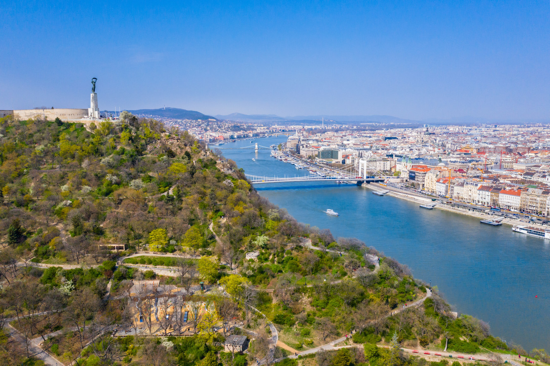 Budapest, drónfelvétel
