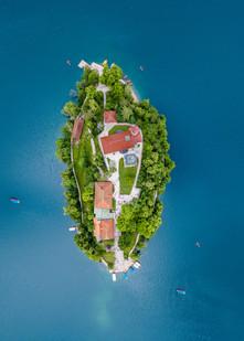 Bledi-tó, drónfelvétel