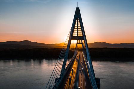 Megyeri híd, drónfelvétel