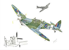 Realistic Colour Pencil Spitfire Drawing Portrait