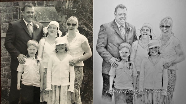 Life Like Realisitc Graphite People Family Drawing Portrait