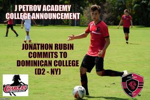 College Announcement: Jonathon Rubin signs with Dominican College