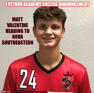 College Announcement: Matt Valentine to Nova