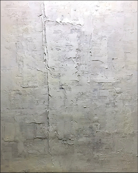 Prairie Icescape 60x48 2019. Oil