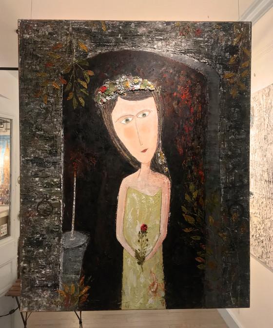 Elle Camilia de Chapelle Porte 1542 Paris   60x48   Oil