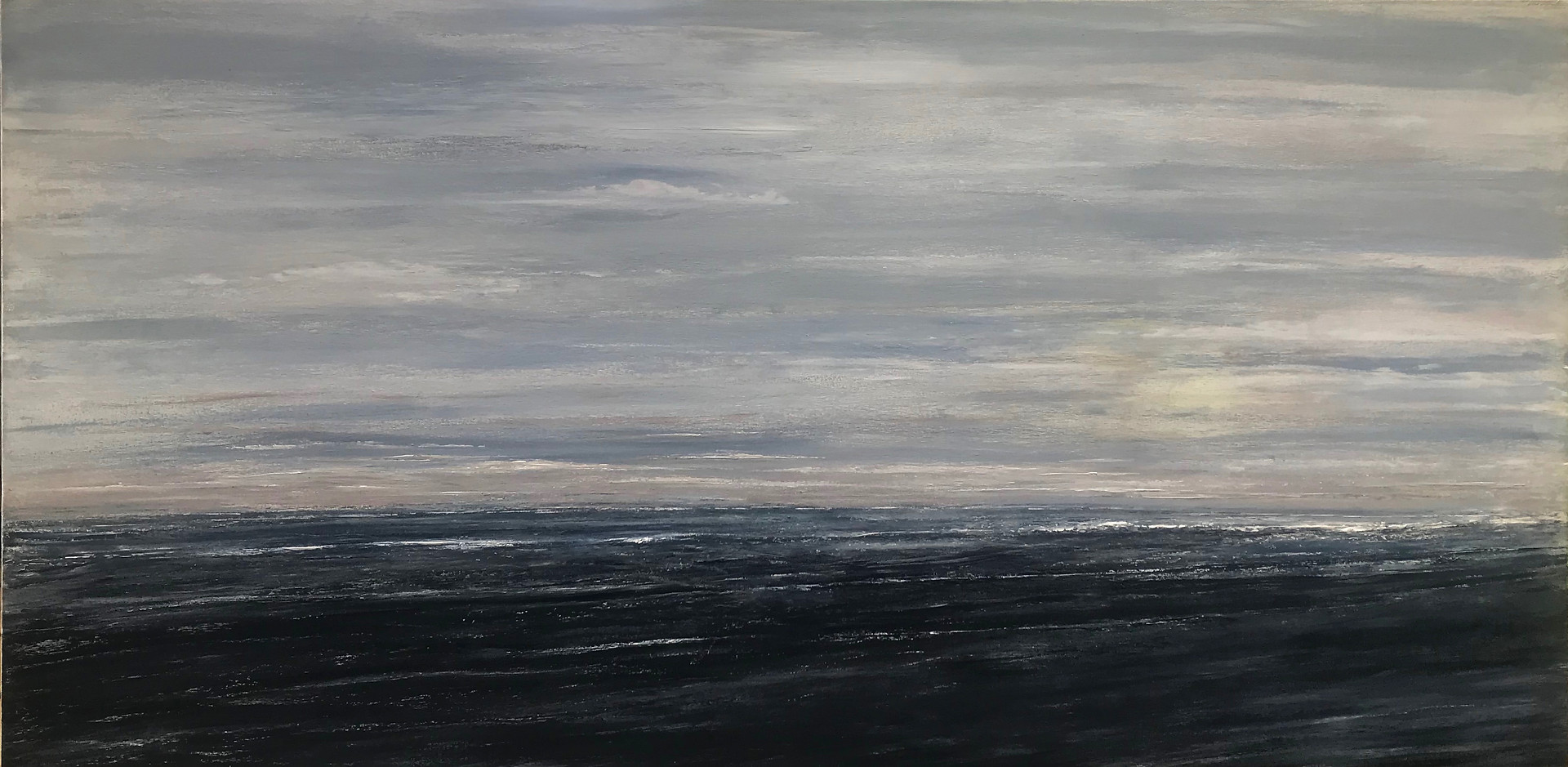 Our Twilights Inner Shallows  72x36 Oil   2019