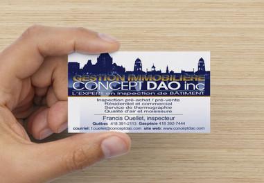 Carte de visite pour Concept Dao Inc. à Québec réalisé avec photoshop CC