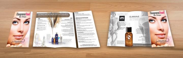 Pamphlet Changement Visuel 3 plis sur support