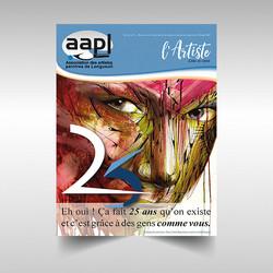 Bulletin trimestriel pour AAPL - Association des Artistes Peintres de Longueuil réalisé dans Indesign CC