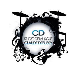 logo réalisé pour Studio de Musique Claude Debussy réalisé dans photoshop CC