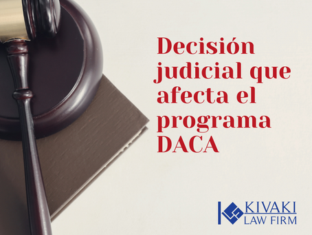 Decisión judicial que afecta el programa DACA