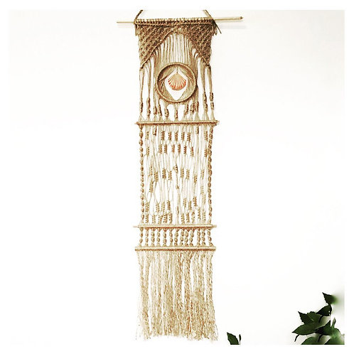 Natural twine macrame wall hanging
