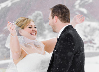 Caryl & Allan : Snowy Red Rocks Wedding