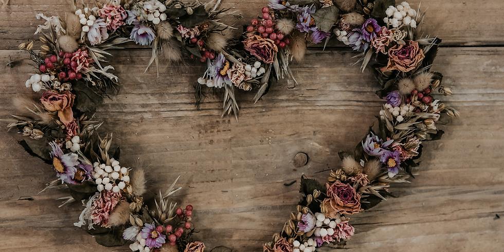 Cuori fiori secchi