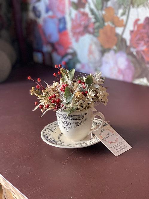 tazza da te fiori secchi
