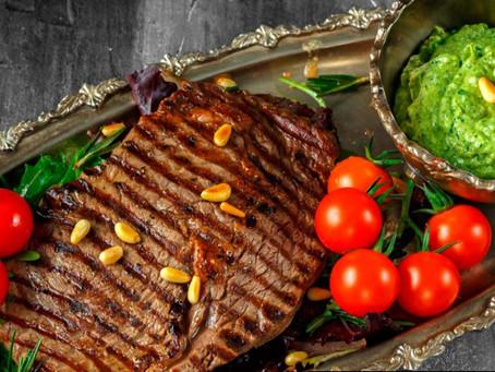 Rib Eye Steak With Pesto