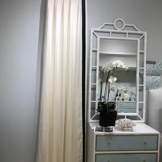 White Linen Drapery Panels
