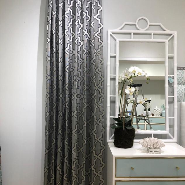 Modern Silver Drapery Panels