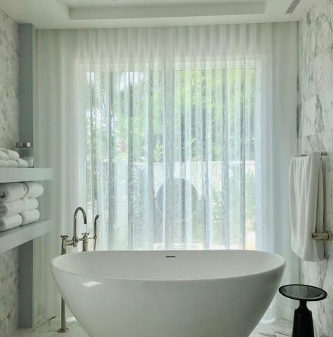 Mac Fabrics Bathroom Sheers