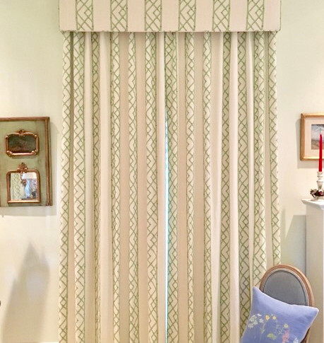 Mac Fabrics Panels w/Fabric Cornice